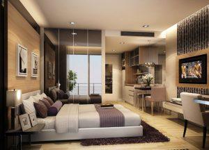 Phòng ngủ chung cư Geleximco Giải Phóng